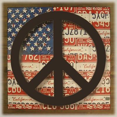 アンティークボード 「PEACE USA」