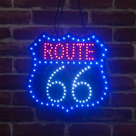 LED ダイカットボード 電照板 壁掛け 「ROUTE66」ルート66