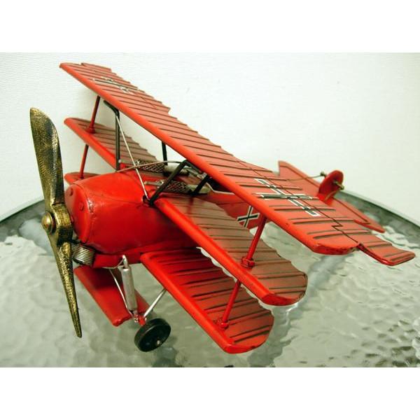 ブリキのおもちゃ 飛行機 レッドバロン