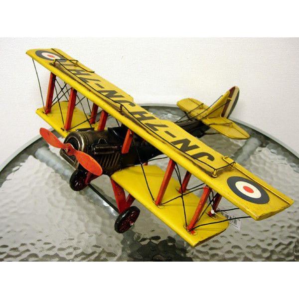ブリキのおもちゃ 複葉機C・イエロー2