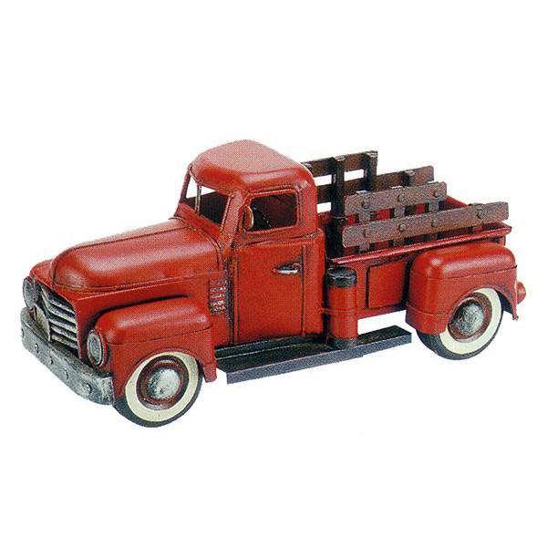 ブリキのおもちゃ ピックアップトラック レッド