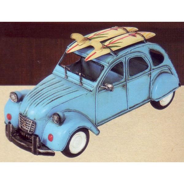 ブリキのおもちゃ キャリアカー ライトブルー
