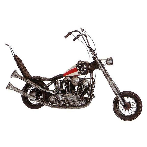 ブリキのおもちゃ レトロバイク チョッパー アメリカン 2