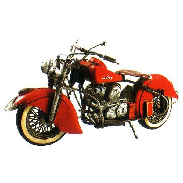 ブリキのおもちゃ レトロバイク レッド F