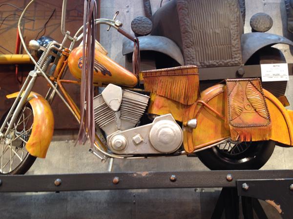 ブリキのおもちゃ レトロバイク・ウエスタン ビッグ