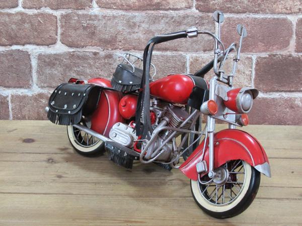 ブリキのおもちゃ レトロバイク・レッド3