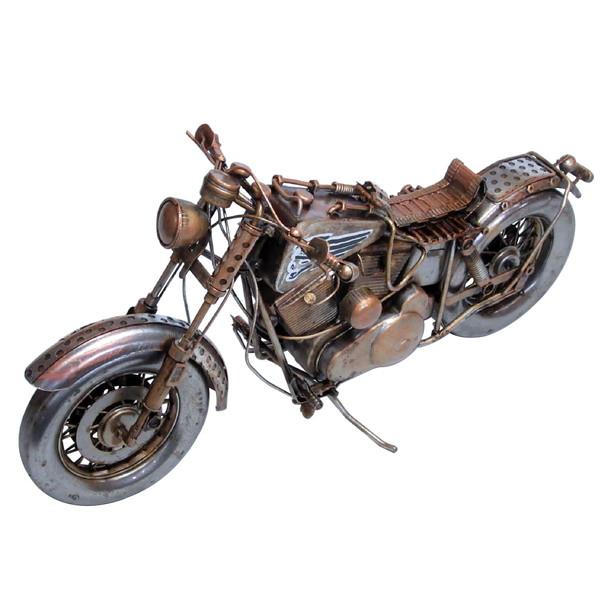 ブリキのおもちゃ レトロバイク サンドブラウン