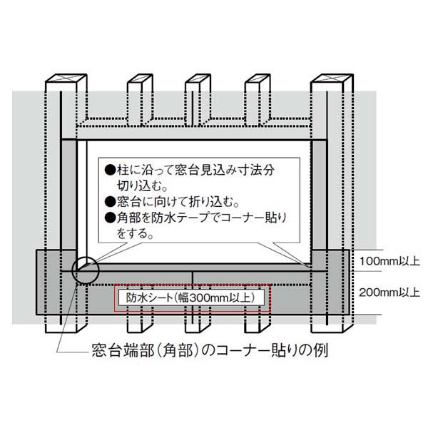 【条件付送料無料】LIXIL/リクシル アルミサッシ サッシ先張防水シート 1巻 ドリーム