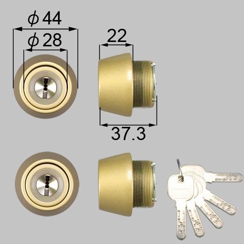 LIXIL/TOSTEM製玄関ドア用JNシリンダー DCZZ1003[リクシル][トステム]