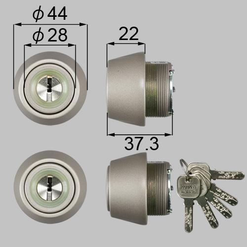 LIXIL/TOSTEM製玄関ドア用JNシリンダー DCZZ1004[リクシル][トステム]