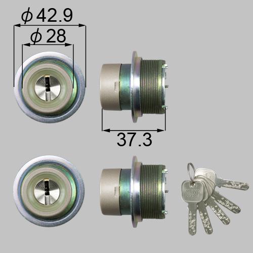 LIXIL/TOSTEM製玄関ドア用JNシリンダー DCZZ1006[リクシル][トステム]