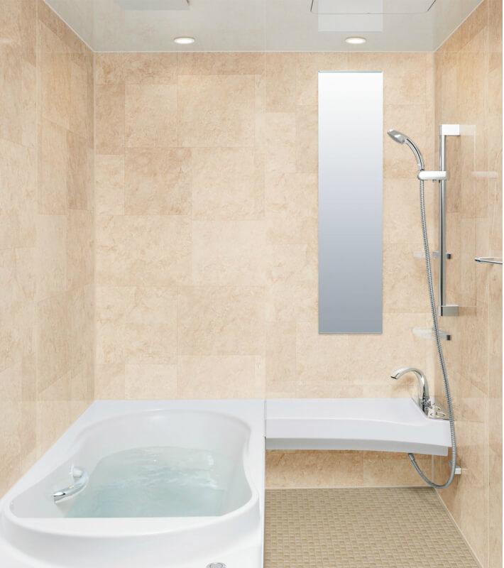 高級感ある浴室へのリフォームにおすすめシステムバス ユニットバス スパージュ リクシル LIXIL INAX システムバスルーム スパージュ CXタイプ 1416(1400mm×1600mm) サイズ 全面張り 戸建1階用ユニットバス リクシル LIXIL 高級 浴槽 浴室 お風呂 リフォーム ドリーム
