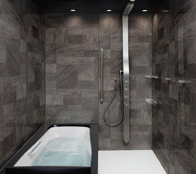 高級感ある浴室へのリフォームにおすすめシステムバス ユニットバス スパージュ リクシル LIXIL INAX システムバスルーム スパージュ PXタイプ 1418(1400mm×1800mm) サイズ 全面張り マンション用ユニットバス リクシル LIXIL 高級 浴槽 浴室 お風呂 リフォーム ドリーム