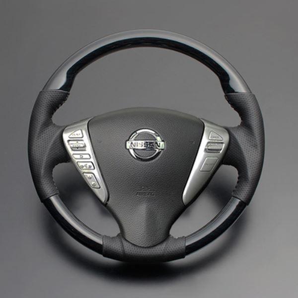 NV350キャラバン ステアリング E26 H24.6- スピード対応 全国送料無料 LS08AN 黒木目 セール 登場から人気沸騰 ルナ LUNA