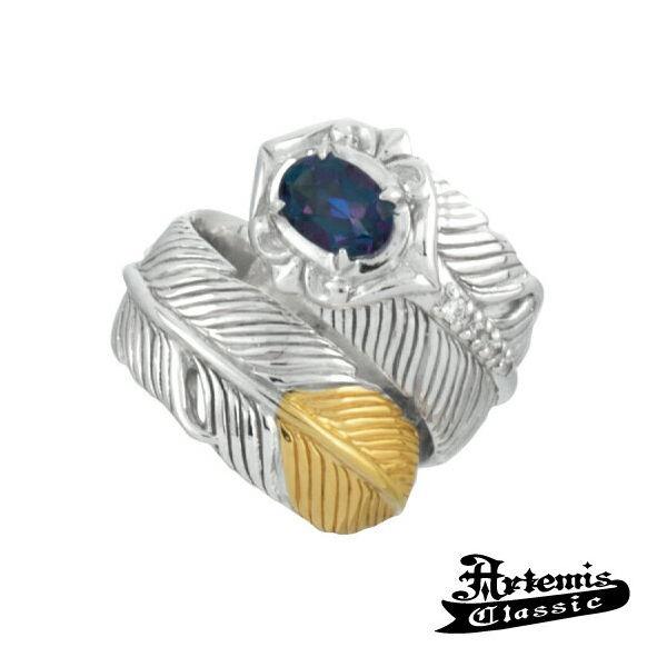 アルテミスクラシック Artemis Classic イカロスフェザーリング ブランド シルバーアクセサリー シルバーリング 指輪 一粒 フェザー 羽根 ウィング トパーズ 天然石 パワーストーン オシャレ かっこいい メンズ プレゼント ギフト 誕生日 記念日 お祝い