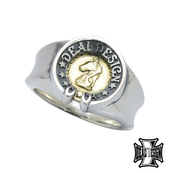 送料無料 DEAL DESIGN ディールデザイン 安売り ホースナイトリング メンズ 指輪 393212 メーカー取り寄せ品 通販 激安◆