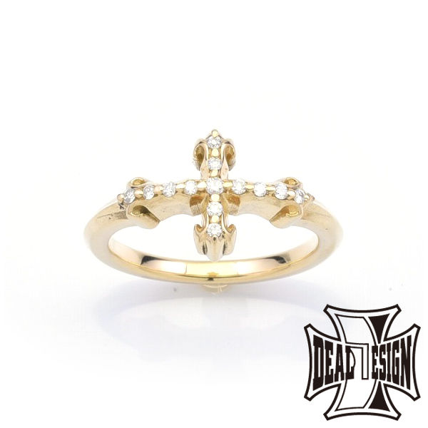 DEAL DESIGN ディールデザイン インセクトクロスリング:K18 メンズ 指輪 393229k18 【メーカー取り寄せ品】