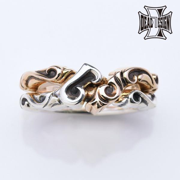 DEAL DESIGN ディールデザイン スペードギメルリング メンズ 指輪 393276 【メーカー取り寄せ品】
