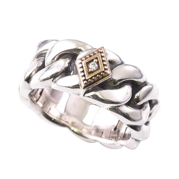 【新作】DEAL DESIGN ディールデザイン ラフカットチェーンリング メンズ 指輪 394224 【メーカー取り寄せ品】