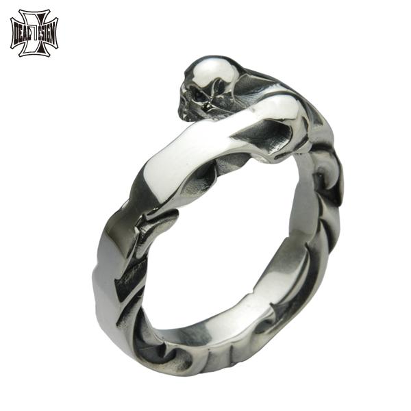 DEAL DESIGN ディールデザイン ストリームスカルリング メンズ 指輪 392223 【メーカー取り寄せ品】