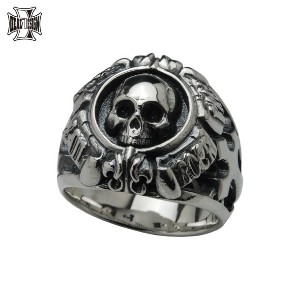 DEAL DESIGN ディールデザイン グリッドスカルカレッジ メンズ 指輪 392232 【メーカー取り寄せ品】