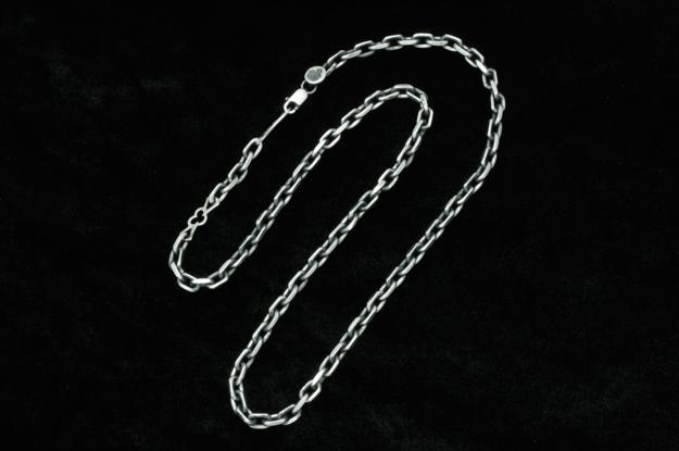 メーカー取り寄せ品 新作 2面カットアズキチェーン150-クラスプロゴ45-50cm シルバーネックレス FAL エフエーエル