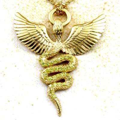 メーカー取り寄せ品/ヒースゴッドペンダント(ゴールド)/ネックレス/holloow/ホロウ
