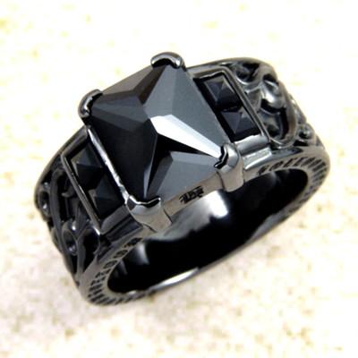 メーカー取り寄せ品/Q.A.Rヴェンデッタリング(ブラック)/指輪/holloow/ホロウ