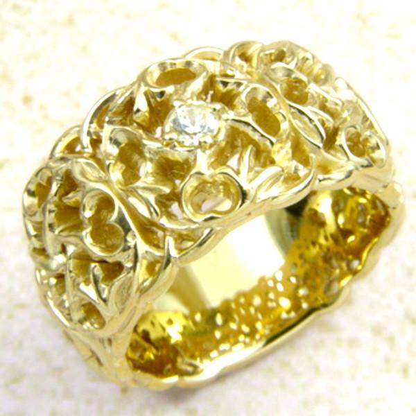 メーカー取り寄せ品/Q.A.Rトライバルリリーリング(ゴールド)/指輪/holloow/ホロウ