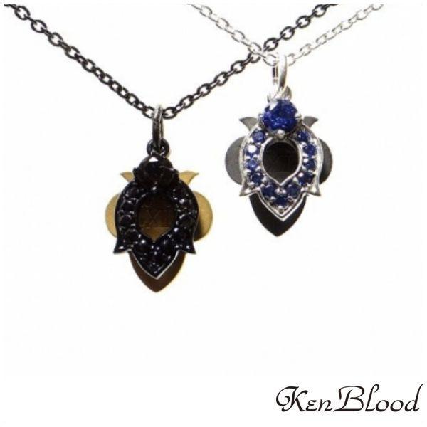 メーカー取り寄せ品/KP-438 ペンダント/シルバー/ブラック/Ken Blood/ケンブラッド