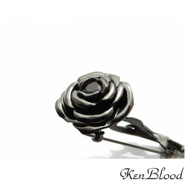 メーカー取り寄せ品/KP-454 ブローチ/シルバーブローチ/ブラック/Ken Blood/ケンブラッド