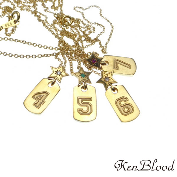 メーカー取り寄せ品/KP-466(4-7)バースデーナンバーネックレス/ネックレス/Ken Blood/ケンブラッド