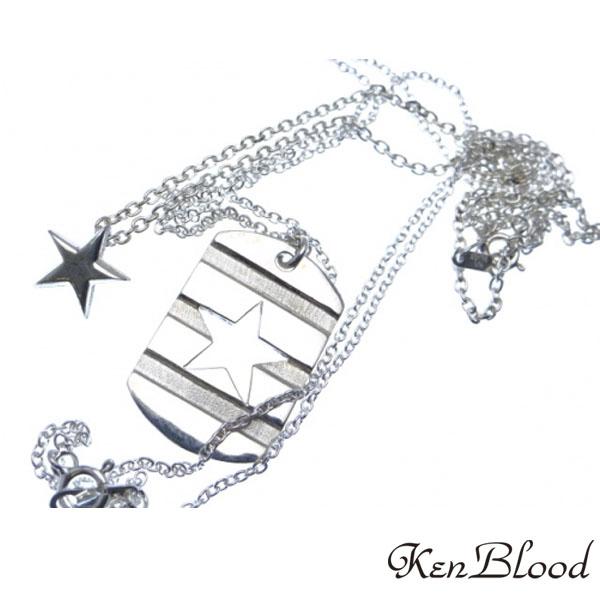 送料無料 専門店 メーカー取り寄せ品 KP-469ダブルスターネックレス ネックレス ケンブラッド Ken NEW Blood