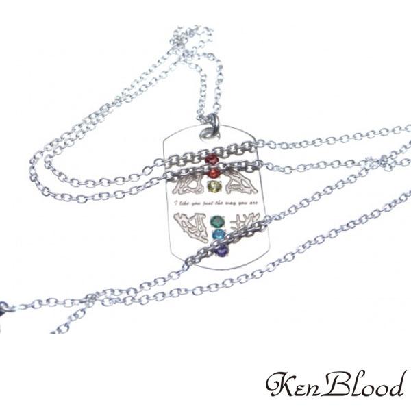 メーカー取り寄せ品/KP-471レインボーネックレス/ネックレス/Ken Blood/ケンブラッド