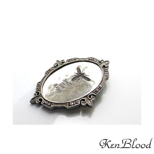 送料無料 メーカー取り寄せ品 安心と信頼 KP-455 ブローチ 即出荷 Ken シルバーブローチ Blood ケンブラッド