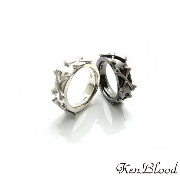 メーカー取り寄せ品/KR-273 リング/シルバー/ブラック/Ken Blood/ケンブラッド