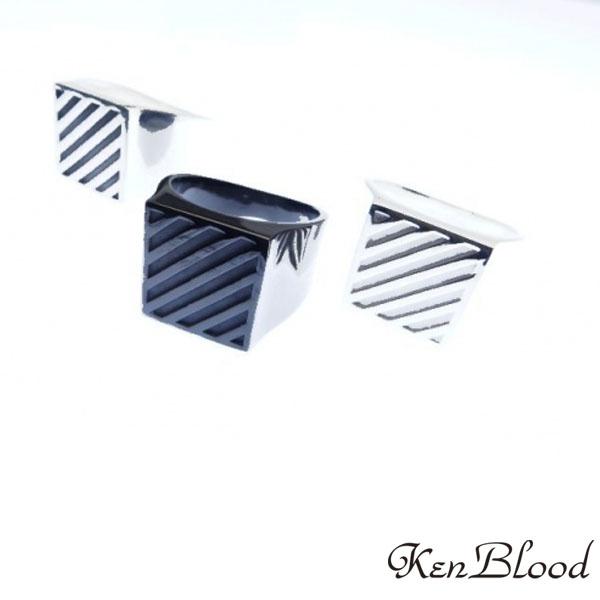 送料無料 大人気! メーカー取り寄せ品 KR-280ストライプリング シルバー キャンペーンもお見逃しなく Ken Blood ケンブラッド