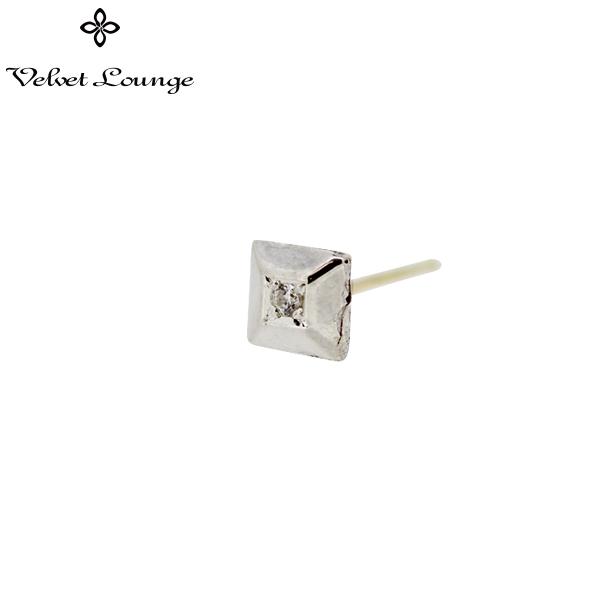 メーカー取り寄せ品/シャイニースタッド(片耳分)/ホワイト/Velvet Lounge/ヴェルヴェットラウンジ
