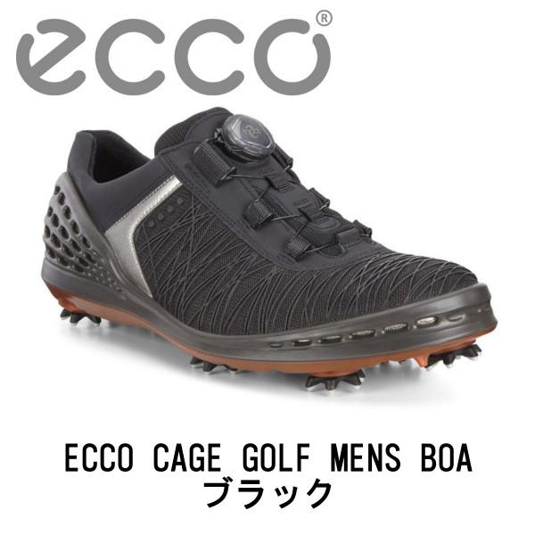 【送料無料】ECCO エコーEG132524 CAGE GOLF MENS BOAケージ ゴルフシューズ メンズ(ブラック)