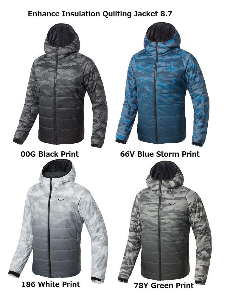 【オークリー】メンズ ゴルフ ジャケット 412586  OAKLEY Enhance Insulation Quilting Jacket 8.7【全国一律送料無料】