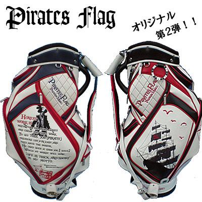 【送料無料】【ネームプレート刻印無料】パイレーツフラッグ キャディバッグ PF-002 Pirates Flag