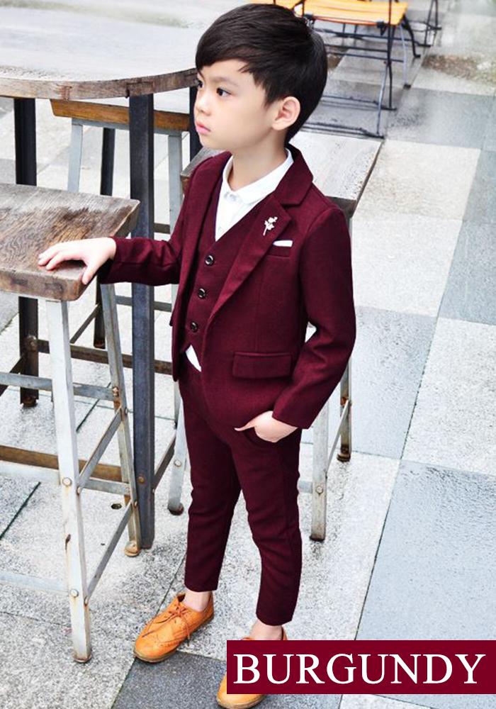 25a18c8b0 dreamkikaku  Boy formal suit six points set navy van garfish D navy ...