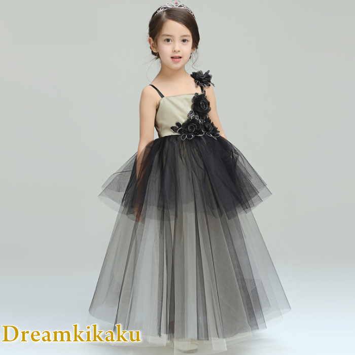 Dreamkikaku Children Dress Presentation Black Gold Children Dress