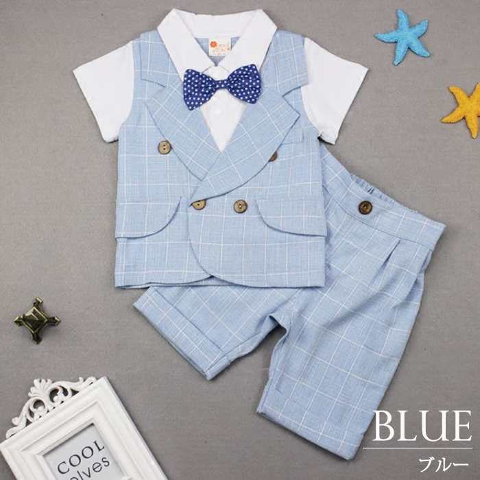 8027eb756 dreamkikaku  Boy suit child four Marlon Perth navy gray top and ...