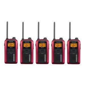 KENWOOD/ケンウッドUBZ-LP20RD(レッド)特定小電力トランシーバー5台セット(無線機・インカム)
