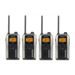 KENWOOD/ケンウッドUBZ-LP20SL(シルバー)特定小電力トランシーバー4台セット(無線機・インカム)