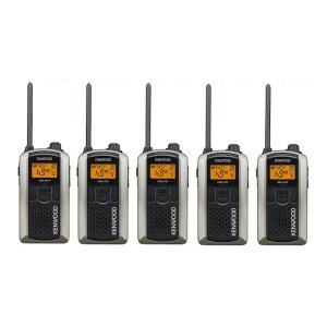 KENWOOD/ケンウッドUBZ-LP20SL(シルバー)特定小電力トランシーバー5台セット(無線機・インカム)