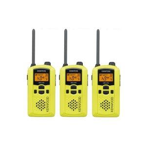 KENWOOD/ケンウッドUBZ-LP20Y(イエロー)特定小電力トランシーバー3個セット(無線機・インカム)