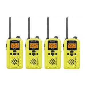 KENWOOD/ケンウッドUBZ-LP20Y(イエロー)特定小電力トランシーバー4個セット(無線機・インカム)