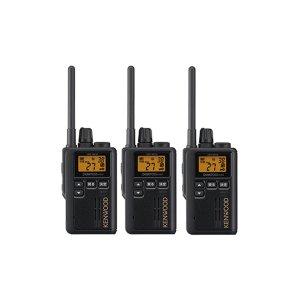 KENWOOD/ケンウッドUBZ-M51S(ブラック)特定小電力トランシーバー中継器対応3台セット(無線機・インカム)